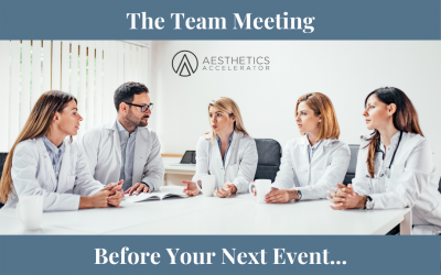 The Team Meeting Before Your Big Event