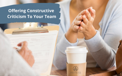 Offering Constructive Criticism To Your Team